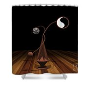 Ying And Yang Shower Curtain
