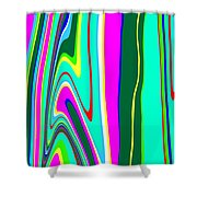 Yipes Stripes II Variation  C2014 Shower Curtain