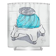 Yoga Ball Cartoon Shower Curtain