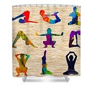 Yoga Poses Shower Curtain