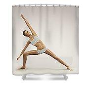 Yoga Side Angle Pose Shower Curtain