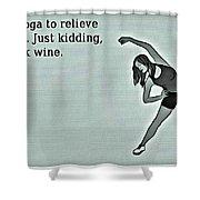 Yoga Wisdom Shower Curtain