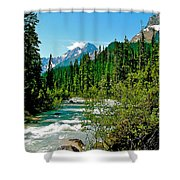Yoho River In Yoho Np-bc Shower Curtain