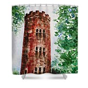 Yokahu Tower  Shower Curtain by Zaira Dzhaubaeva