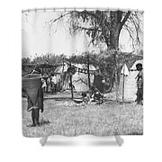 Yokut Indian Homes Shower Curtain