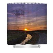 Yorkshire Sunset  Shower Curtain