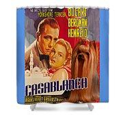 Yorkshire Terrier Art Canvas Print - Casablanca Movie Poster Shower Curtain