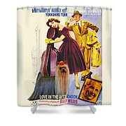 Yorkshire Terrier Art Canvas Print - Love In The Afternoon Movie Poster Shower Curtain