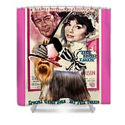 Yorkshire Terrier Art Canvas Print - My Fair Lady Movie Poster Shower Curtain
