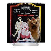 Yorkshire Terrier Art Canvas Print - Some Like It Hot Movie Poster Shower Curtain