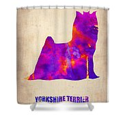 Yorkshire Terrier Poster Shower Curtain by Naxart Studio