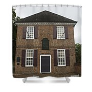 Yorktown Customs House Shower Curtain by Teresa Mucha
