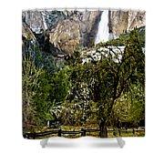 Yosemite Apple Orchard  Shower Curtain
