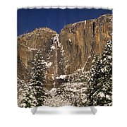 Yosemite Falls And Lost Arrow Yosemite National Park  Shower Curtain