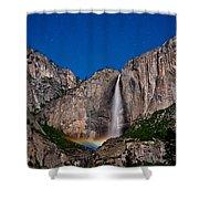 Yosemite Falls Moonbow Shower Curtain
