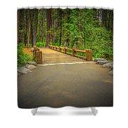 Yosemite Falls Trail Shower Curtain
