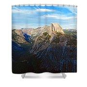 Yosemite Glacier Point Panorama Shower Curtain