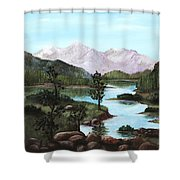 Yosemite Meadow Shower Curtain