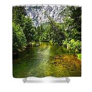 Yosemite Merced River Rafting Shower Curtain