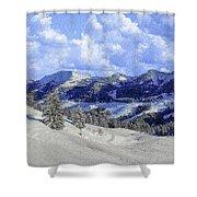 Yosemite National Park Winter Shower Curtain