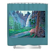 American Beauty Yosemite  Shower Curtain