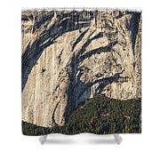 Yosemite Rock Detail Shower Curtain