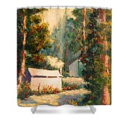 Yosemite Tent Cabins Shower Curtain