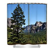 Yosemite Triptych Shower Curtain