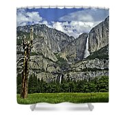 Yosemite Upper And Lower Falls Shower Curtain