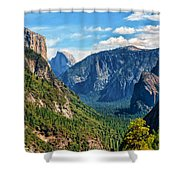 Yosemite Valley Overlook Shower Curtain