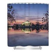Yoshino Sunrise Shower Curtain