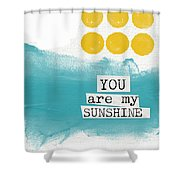 You Are My Sunshine- Abstract Mod Art Shower Curtain