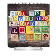 You Are Never Too Old To Dream Big Shower Curtain