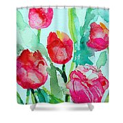 You Enlighten Me- Painting Of Tulips Shower Curtain