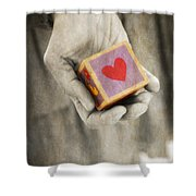You Hold My Heart In Your Hand Shower Curtain