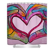 You Hold My Heart In Your Hands Shower Curtain