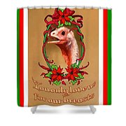 You Only Love Us For Our Breasts Christmas Card Shower Curtain