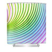 You Spin Me Round Shower Curtain