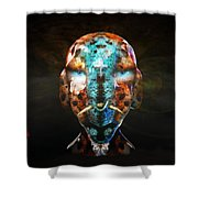 Young Alien Warrior Shower Curtain