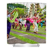 Young Bali Dancers - Indonesia Shower Curtain