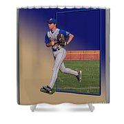 Young Baseball Athlete Shower Curtain