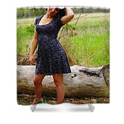 Young Beauty Shower Curtain