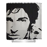Young Boss Shower Curtain by ID Goodall