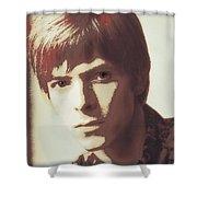 Young Bowie Pop Art Shower Curtain