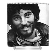 Young Bruce Springsteen Shower Curtain