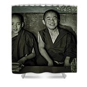 Young Buddhist Monks Shower Curtain