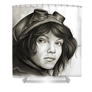 Young Catwoman Shower Curtain