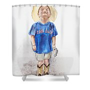 Young Cowboy  Shower Curtain