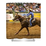 Young Cowgirl Shower Curtain