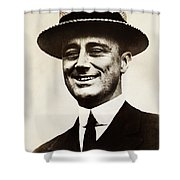Young Franklin  Roosevelt Shower Curtain